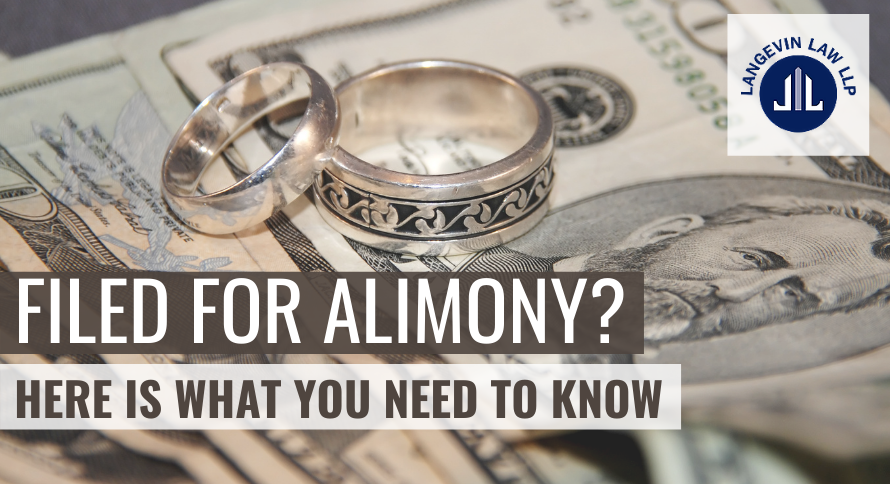 Filed for Alimony? Here is What You Need to Know